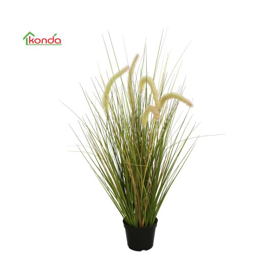 Wholesale Supplier Latest Style Bonsai Artificial Potted Alfa Onion Grass Plant