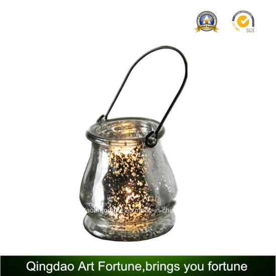 Mercury Electroplate Glass Lantern for Outdoor Garden Decoration pictures & photos