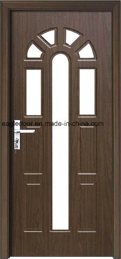 Africa Interior Wooden Rounded MDF PVC Door (EI-P112) pictures & photos