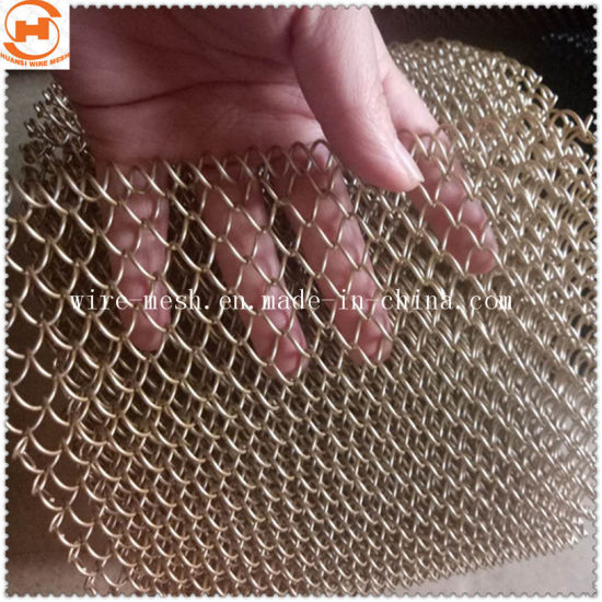 Stainless Steel/Aluminum Metal Coil Drapery Decorative Wire Mesh
