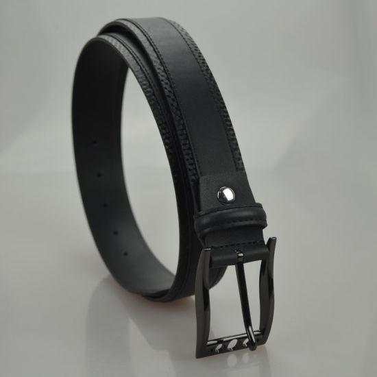 0672b4bdd China Black Top Selling Skinny Men′s Genuine Leather Belt (B-05 ...