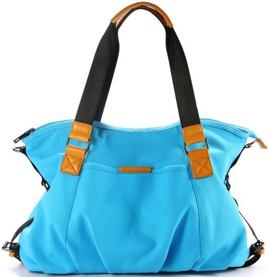 2020 Blue Fabric Leather Handbags pictures & photos
