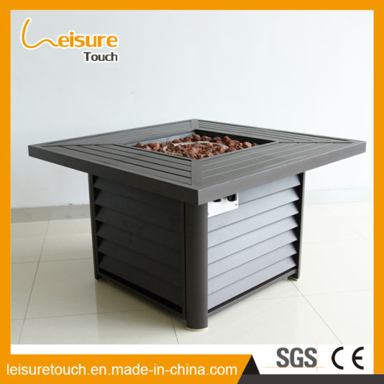 China Multifunctional BBQ Grilling Table Aluminum Rattan Fire Pit - Grill table fire pit all in one