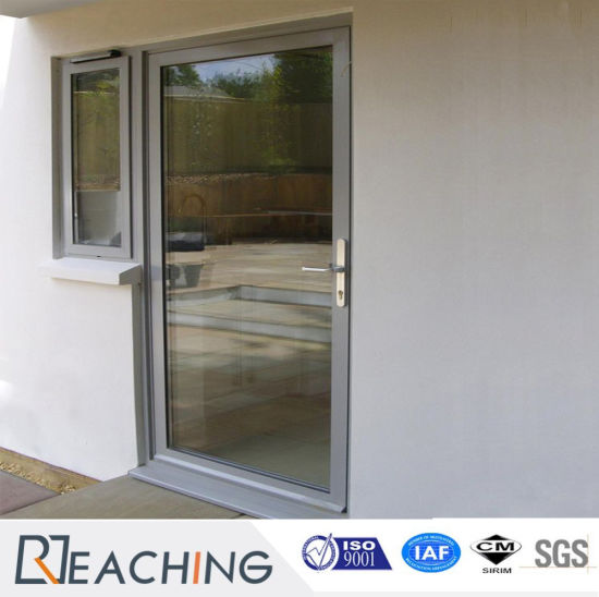 China Hot Sale High Clear Glass Aluminium Door With Durable Handle
