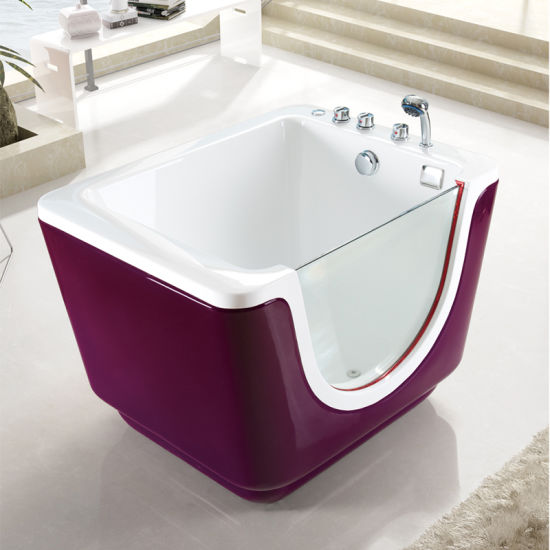 New Acrylic Freestanding Simple Children And Baby Bathtub (BG 7026)