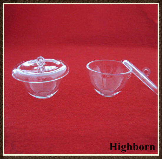 Clear Polishing Melting Silica Quartz Crucibles with Lids pictures & photos
