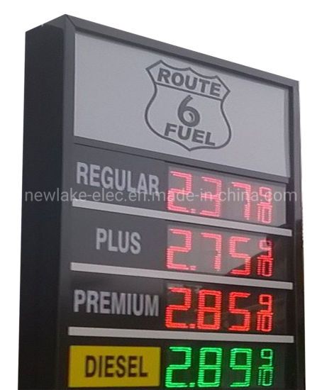 8-Inch LED Gas Fuel Price Signs 8.889/10 for USA Gas Stations (IP67 for all weathers)