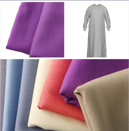 100%Polyester Arabic Thobe East Men Dress Spun Superfine Fabric
