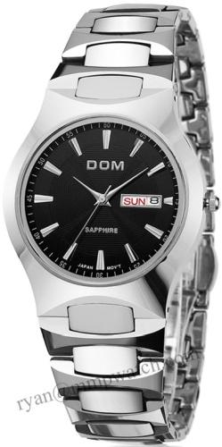 8018 Tungsten Watch Manufacture, Original Classic Tungsten Steel 10 Bar Water Resistant Japan Quartz Movement High End Watch
