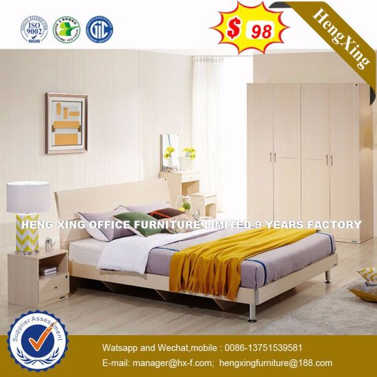 Top-Selling Hardware Soft Leather  Wooden Bed (HX-8NR0836) pictures & photos