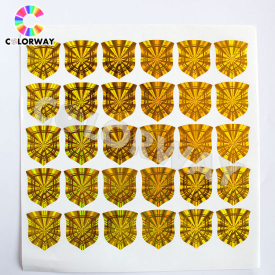 Professional Anti-Fake Laser Security Silver Gold 3D Hologram Sticker pictures & photos