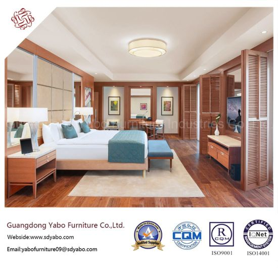 China Solid Wood Hotel Bedroom Furniture With Sea View King Room Yb
