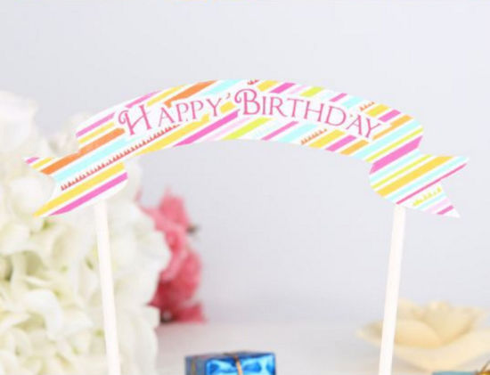 China Happy Birthday Letter Bunting Set Mini Flag Cake Banner