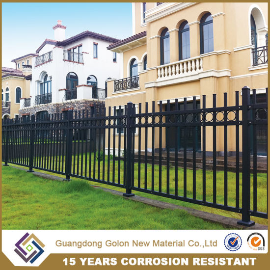 Powder Coated Hot Dipped Galvanized Steel Fence pictures & photos