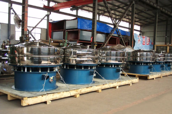 Ultrasound Rotary Vibrating Screen for Sugar Powder/Machinery Vibrating Screen Machine pictures & photos