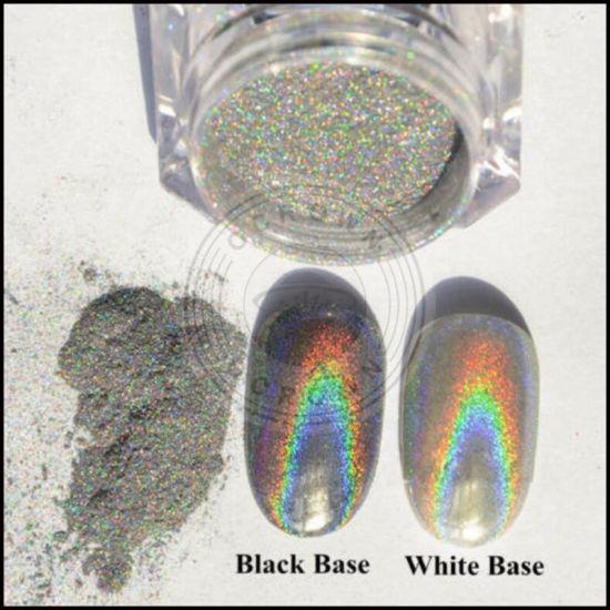 China Rainbow Mirror Holographic Pigment Magpie Dust Holo Glitter Powder China Cosmetics Uv Gel Polish