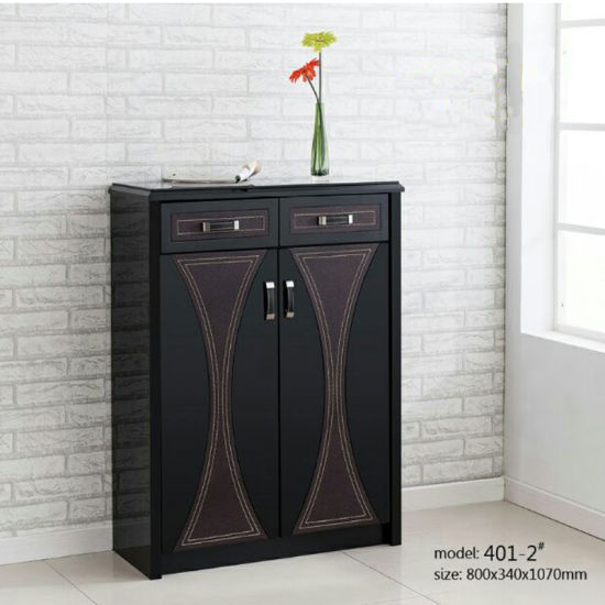 Corner Luxury Wood Shoe Cabinet Living Room Hallway Furniture