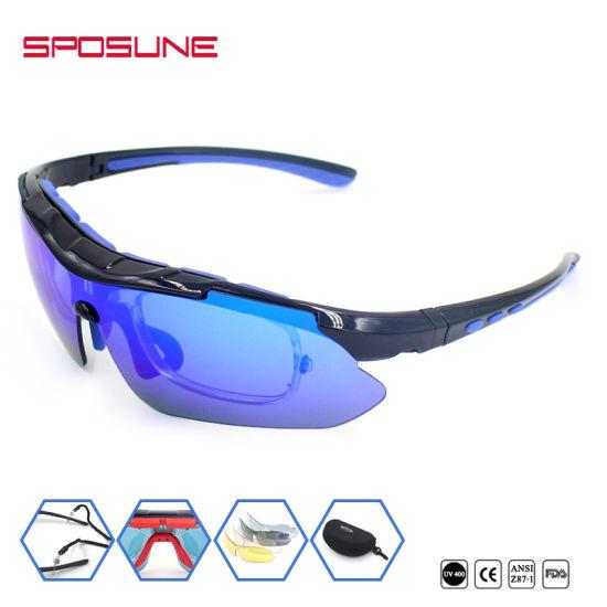028a89b0b2fd5 Myopia Frame Insert Ski Goggle 5 Spare Unbreakable Lenses Cycling Hikking Sunglasses  High Prescription Polarised Anti UV400 Glasses