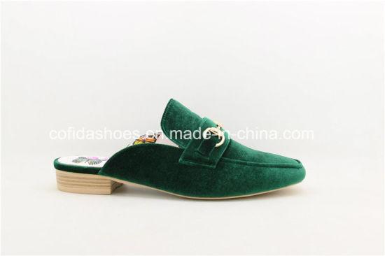 Trendy Velvet Loafer Women Slipper Sandal for Fashion Lady