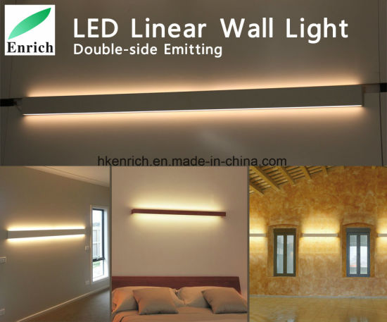 LED Bedroom Light Indoor Modern Double Side Surface Mounted Aluminium Up  And Down Emitting LED Wall Linear Light