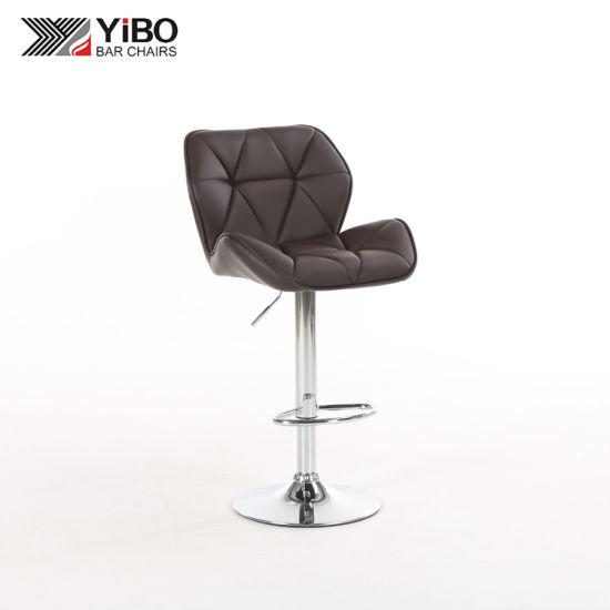Incredible China Pu Leather Swivel Commercial Bar Stool With Footrest Inzonedesignstudio Interior Chair Design Inzonedesignstudiocom
