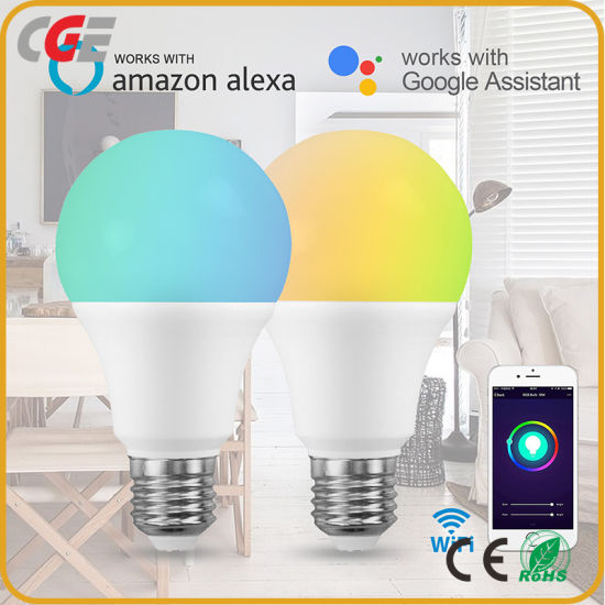 A60 RGB WiFi Smart LED Bulb Color Changing Lamp Works with Amazon Alexa and Google Home