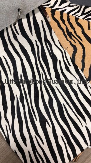 Horse Fur Animal Pattern Printing Hair Calf Real Leatherfor Furniture, Bags, Shoes