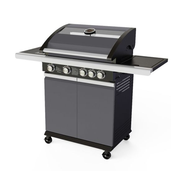 New! 2/3/4 Burners Easy Assembled Outdoor Gas BBQ Grill with Glass Window