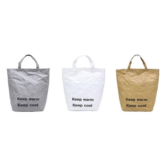 Wholesale Kraft Paper Ladies Large Capacity Crossbody Fashion Tyvek Tote Bag