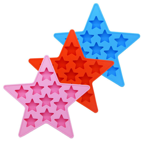 FDA Material Logo Customized Star Shape Silicone Ice Tray