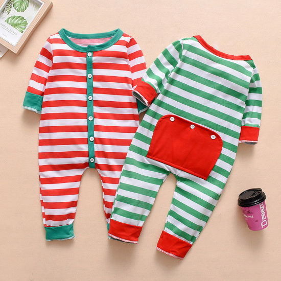 Hot Sales Long Sleeved Winter Classic Striped Pajamas Baby Clothes