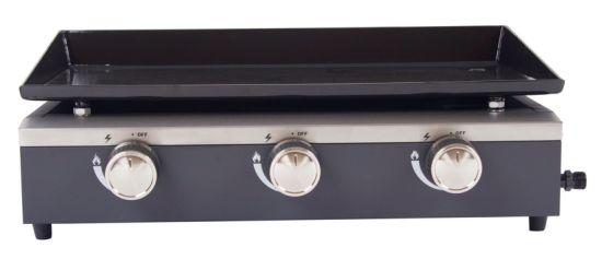 3 Burners Gas BBQ, Gas Plancha with Ce, LFGB