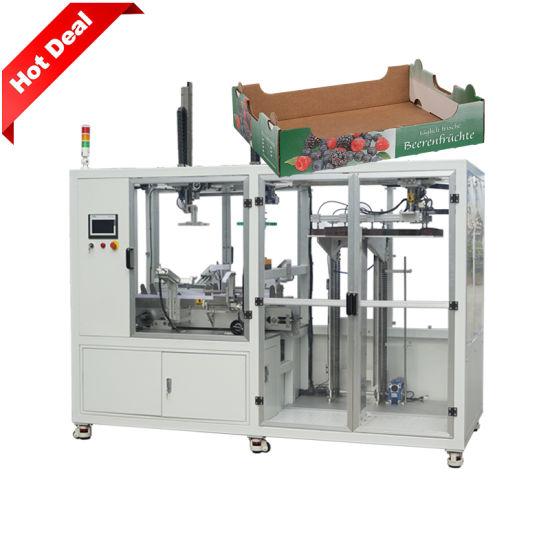 Wholesale Custom Automatic Fruit Cardboard Paper Tray Erector Packaging Machine