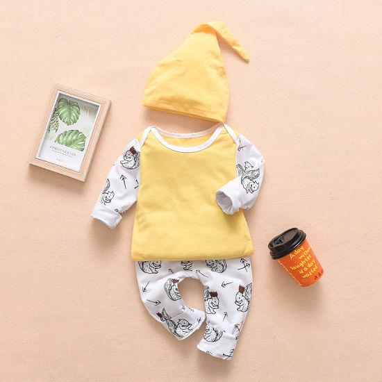 Wholesale Newborn 100% Organic Cotton Long Sleeve Baby Clothes