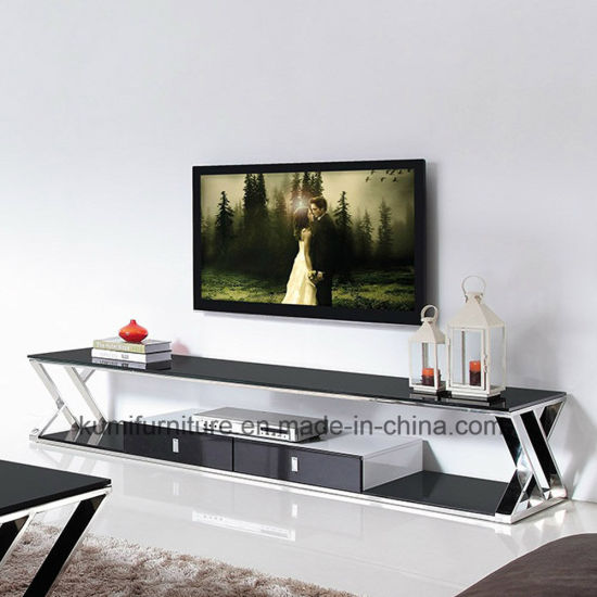 Modern Designs Stainless Steel TV Stand