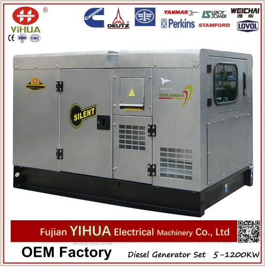 6-56kVA/5-45kw Japan Yanmar with Stamford Stainless Diesel Generator Set with Silent Canopy pictures & photos