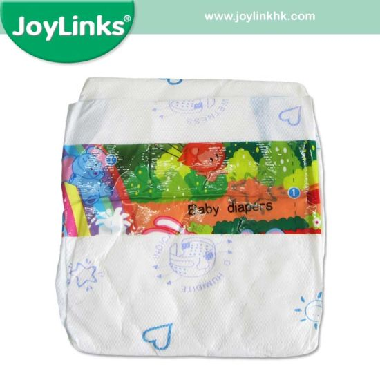 Disposable Baby Diapers with Beautiful Backsheet and Frontal Tapes with Cute Graphics