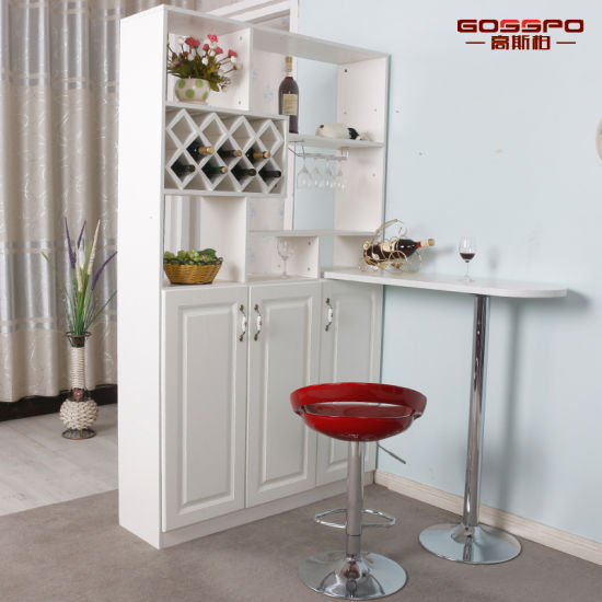 95ca598cc225 Living Room Furniture White Paint Solid Wooden Wine Cabinet (GSP9-054)