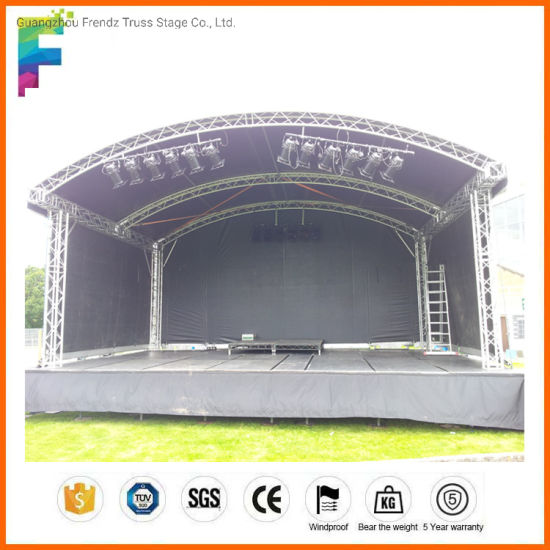 Wholesale Small Stage Lighting Truss Aluminum Arched Roof Truss for Exhibition