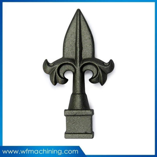 OEM Fashion Cast Wrought Iron Pipe Fitting with Fence Casting