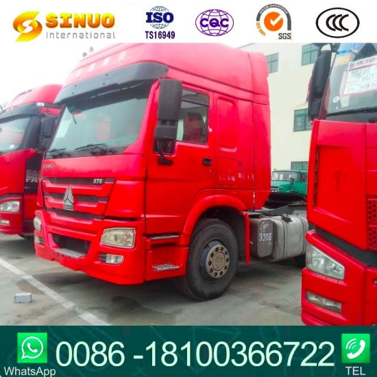 Used 371HP375 6X4 Sinotruk HOWO 10X Tyres Tractor Truck Heavy Duty Truck Trailer Head Tractor Head Truck Low Price Hot Sale for Africa
