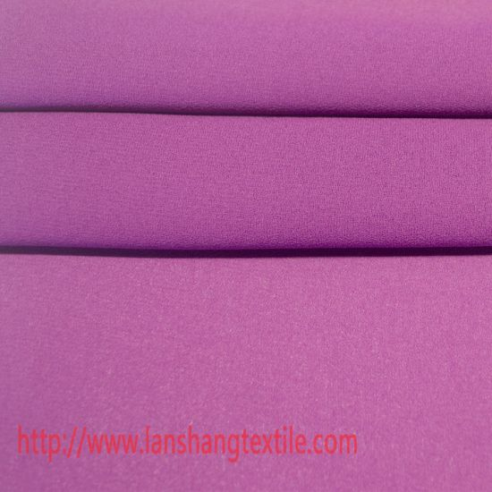 Garment Fabric Plain Dyed Polyester Fabric for Ladies Dress, Coat, Blouse, Scarf