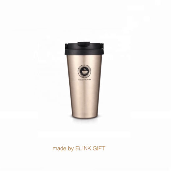 Food Grade Double Wall Insulated Stainless Steel Camping Tumbler Coffee Mug with Lid pictures & photos