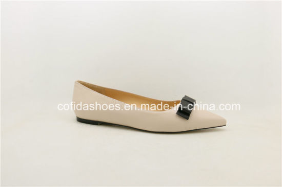 New Soft Leather Ballerina Ladies Shoes pictures & photos