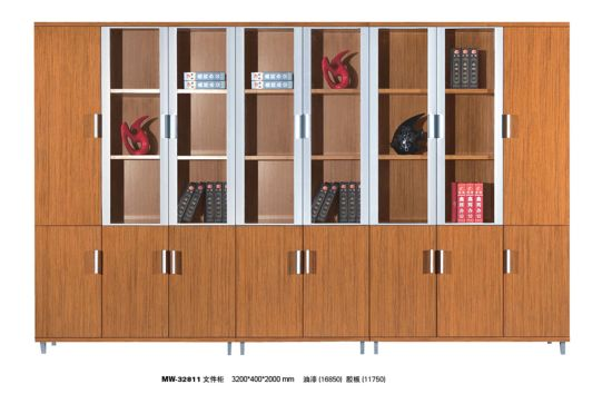 Modern Office Furniture Dark Wood Low Filing Cabinet pictures & photos