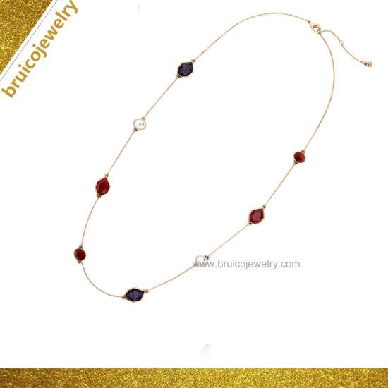 Elegant Korean Style 9K Gold Plating with Rhinestone/Zircon Party Gift  Women Pendant Necklace