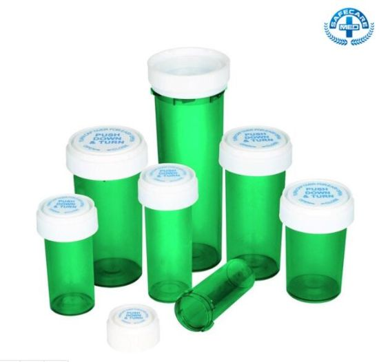 8 DRAM Airtight Plastic Doob Bottle with Reversible Lid pictures & photos