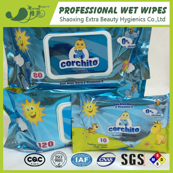 Wholesale Biodegradable Wet Wipes Babies Age Group Cleaning Use Baby Wet Tissue
