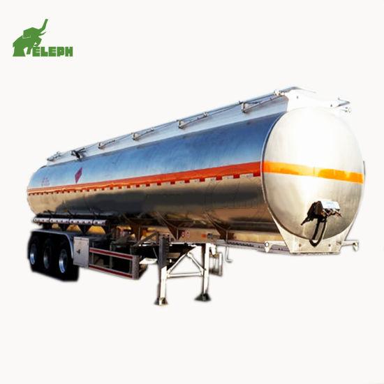 Various Capacities Tri Axle Stainless Steel Fuel Tanker Semi Trailer