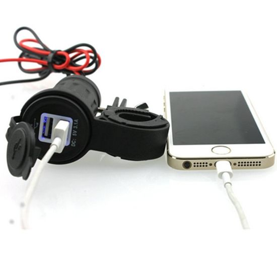 Motorcycle Handle Bar USB Charger Power Port Outlet Socket pictures & photos